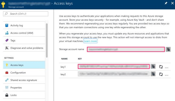 Storage account access key